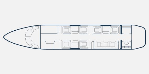 Challenger 300 8 seats club - Bombardier Challanger 300