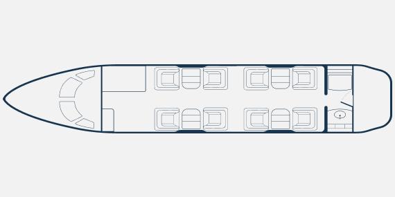 Challenger 300 9 seats - Bombardier Challanger 300